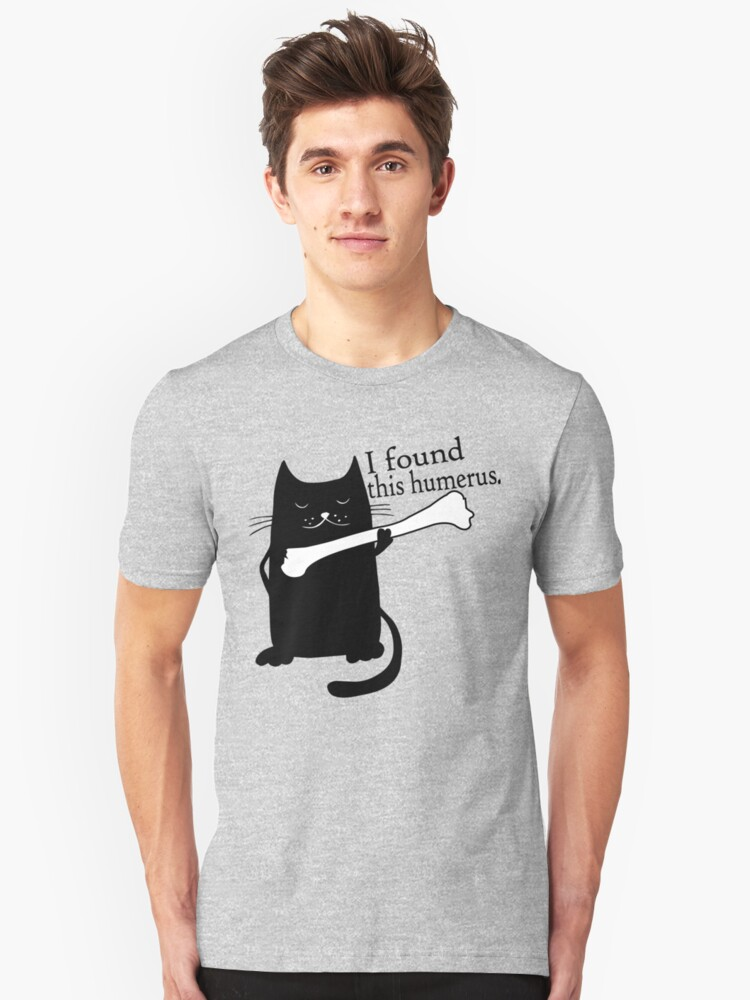 14063960 I Found This Humerus Cats - Humorous T-Shirt