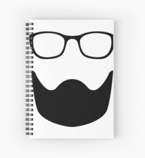 Glasses and a Beard Spiral Notebook