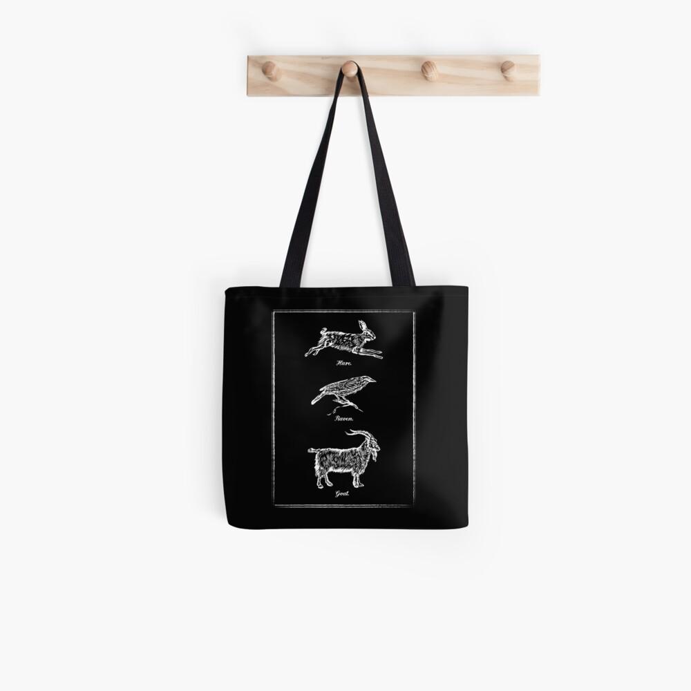 Hare, Raven, Goat Tote Bag