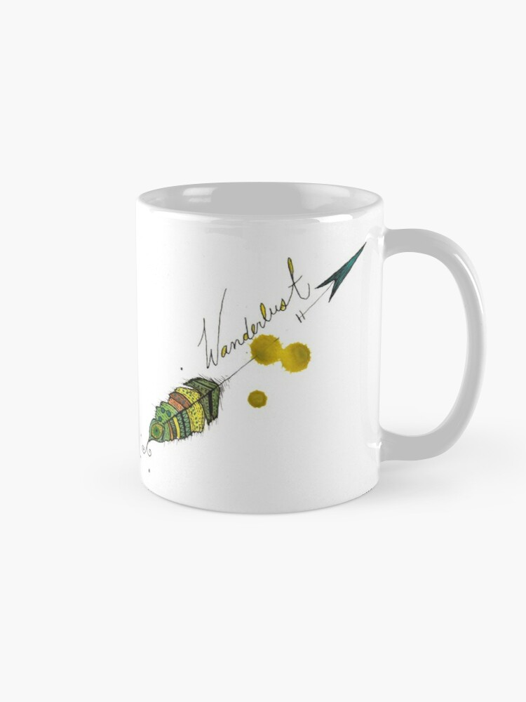 Alternate view of Wanderlust Feather  Mug