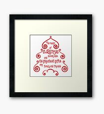 The Magic Of Christmas Never Ends - Graphic Quote Print Framed Print