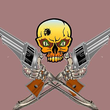 SKULL AND CROSS GUNS by TimForder