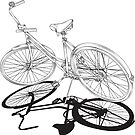 Vintage Black and white bike by Nathan Smith