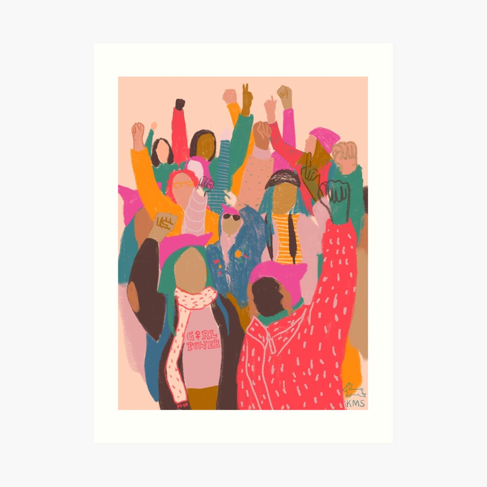 Women's March Art Print