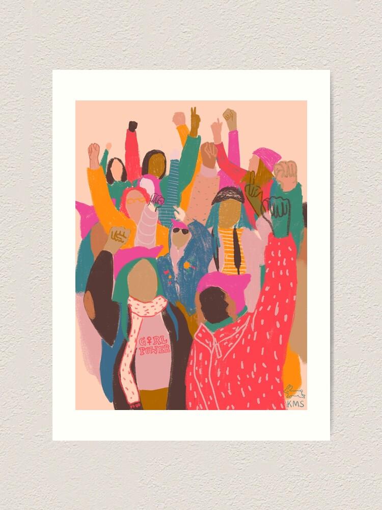 Alternate view of Women's March Art Print