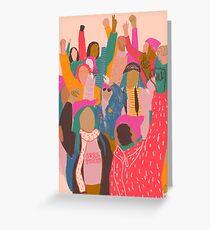 Frauen März Grußkarte
