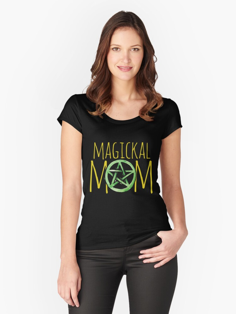 Magickal Mom Women's Fitted Scoop T-Shirt Front