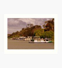 photoj S.A. Houseboats on the River Murray Art Print