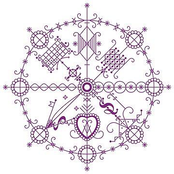 Milokan vèvè (purple) by milokan