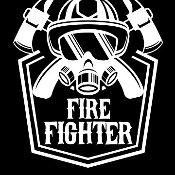 Fire Fighter Fireman Fire Ax First Responder by KanigMarketplac
