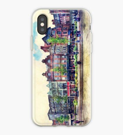 Nottingham panorama city watercolor iPhone Case