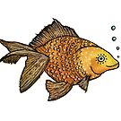 Good Luck Gold Fish  by marinaleclair