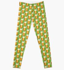 St. Patricks Day - Beer Pattern Leggings