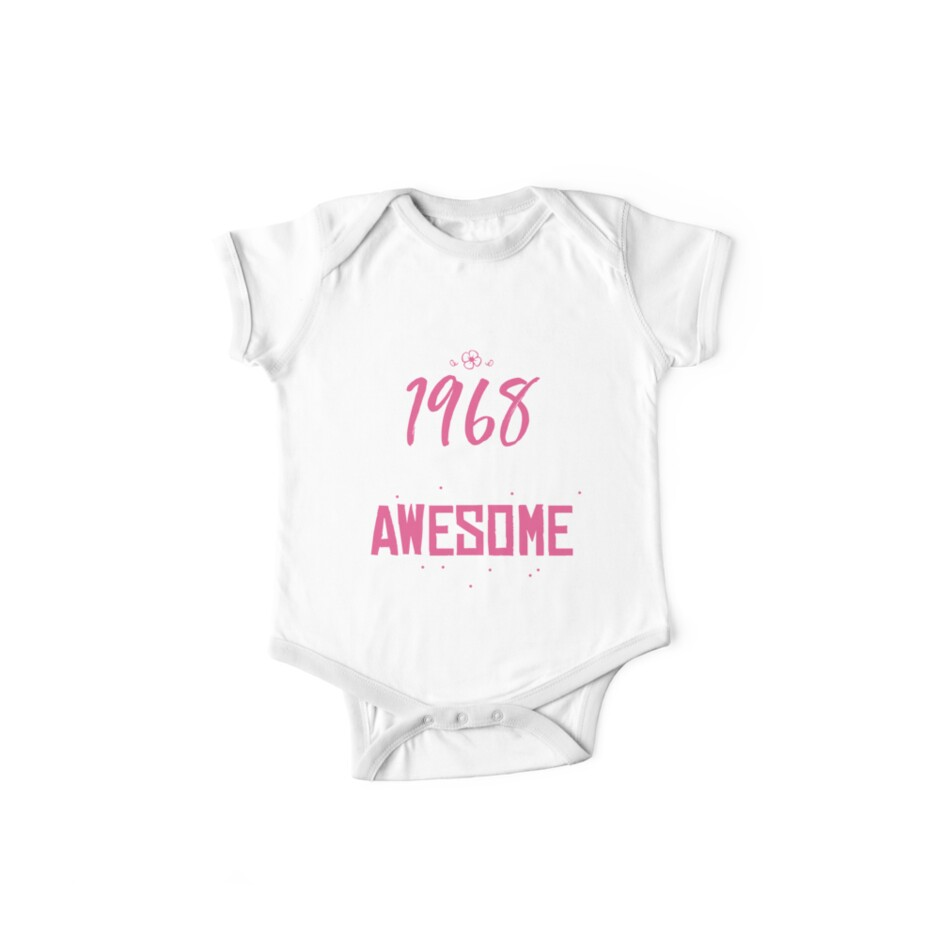 c5623bf40 Womens 50th Birthday 1968 50 Years Of Being Awesome T-shirt