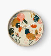Mushroom Forest Abstract Clock