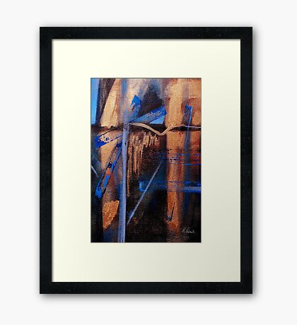 Even With Tears Framed Print
