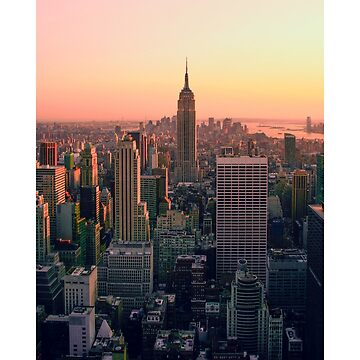New York Sticker Empire State Iphone Case Pillow Tote Bag Book Poster by buenapinta