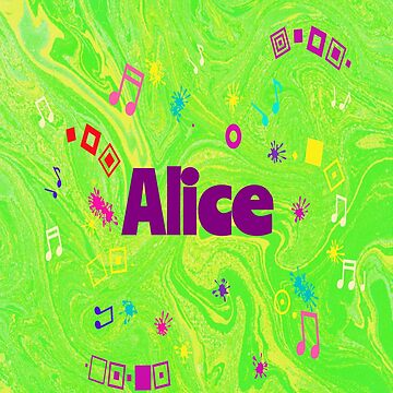 Alice - personalize your gift in green by myfavourite8