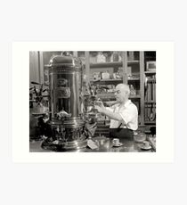 Lámina artística Espresso Coffee Shop, 1942. Foto de época