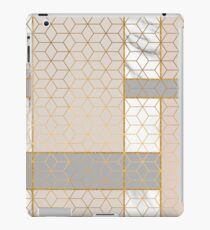 Golden Pastel Marble Geometric Design iPad Case/Skin