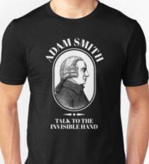 Adam Smith Funny Economics Professor Invisible Hand   Unisex T-Shirt