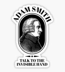 Adam Smith Funny Economics Professor Invisible Hand   Sticker