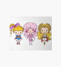 three girl Art Board Print