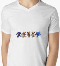 Orange and Blue greatful dead bears Men's V-Neck T-Shirt