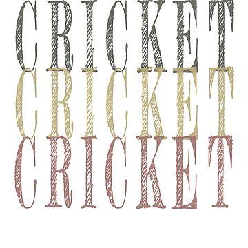 Retro Cricket design by jhussar