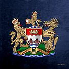 Hong Kong - 1959-1997 Coat of Arms over Blue Velvet by Serge Averbukh