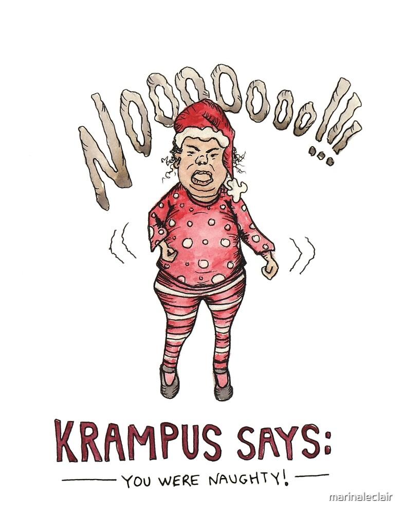 Krampus Says by marinaleclair