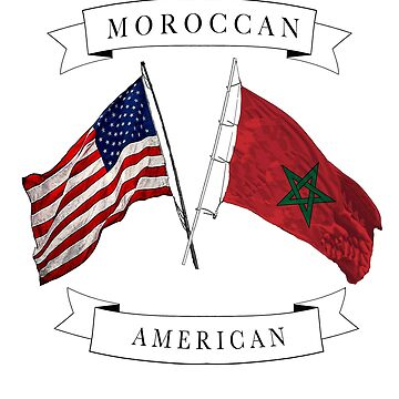 Moroccan American ancestry flag design by jhussar