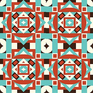 Colorful Geometric Retro Tribal Design for Vintage Fans by dfitts