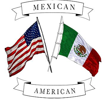 Mexican American ancestry flag design by jhussar