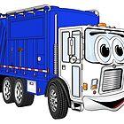 Blue White Smiling Garbage Cartoon by Scott Hayes