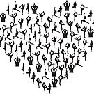 Yoga Figures in a Heart by Rob Wood
