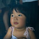 Young Chinese Girl Through a Netted Door by eyesoftheeast