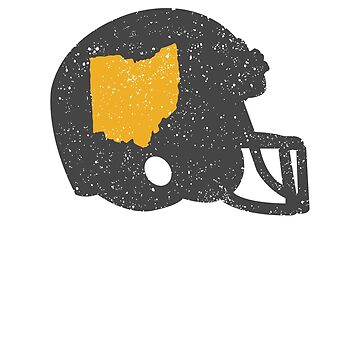State Shape of Ohio Vintage Football Helmet by ZippyThread