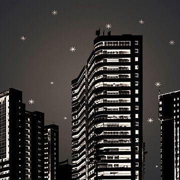 Cityscape Night Scene Illustration by DFLCreative