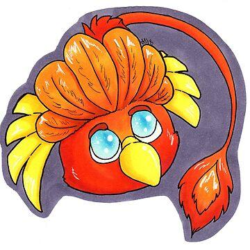 Kawaii Kritter Phoenix by nagamiarts