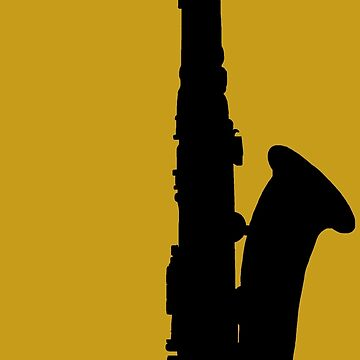 Saxophone Silhouette by Rocket-To-Pluto