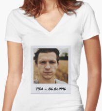 Tom Holland Polaroid Edit (64) Women's Fitted V-Neck T-Shirt