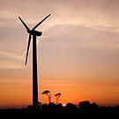 Turbine sunset! by Carole Stevens