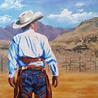 Cowboy at the Rodeo by Pamela Burger