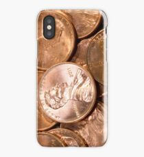 US Penny Coin Background iPhone Case