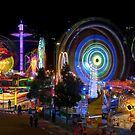 Fairground Attraction (full panoramic image) by Ray Warren