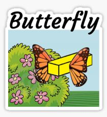 Butterfly Butter Up Bugs fly off Sticker