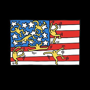 Keith Haring American Flag Poster by 1000grau
