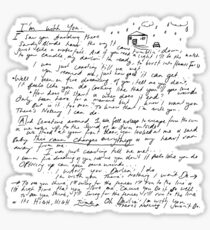 I'm With You - Vance Joy - Handwritten Sticker