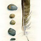Stones and feather by Sergei Kurbatov